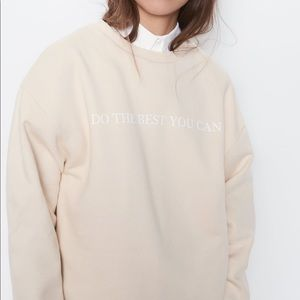 Front text print sweatshirt